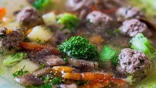 детское меню | суп с фрикадельками