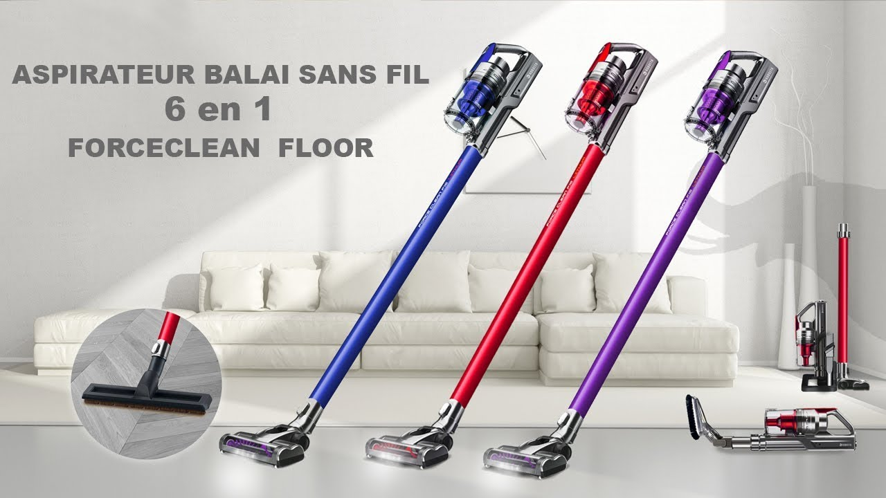 robusta aspirateur balai sans fil 6 en 1 forceclean floor youtube