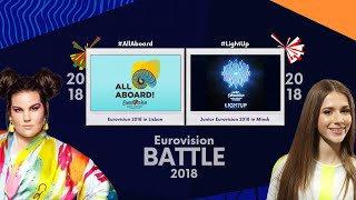 BATTLE || Eurovision 2018 vs Junior Eurovision 2018 ♪