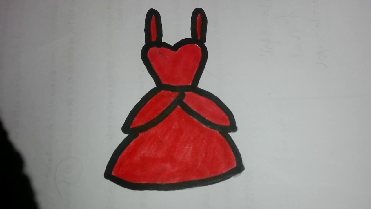 ec5d128f1ddd6 Kolay elbise çizimi - YouTube