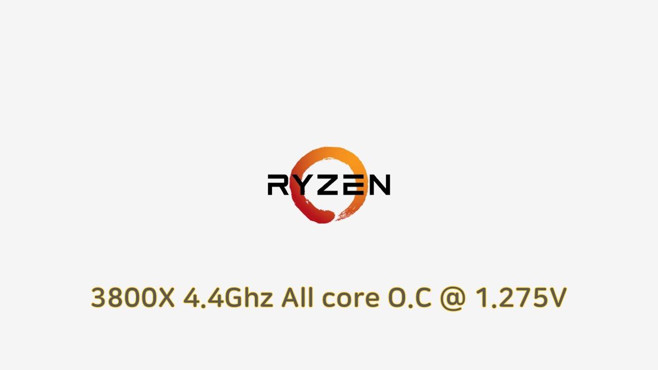 Ryzen 3800X 4.4Ghz@1.275V overclocked