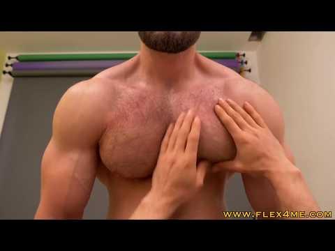 Deep Massage Of Massive And Hard Pecs - Amazing Worshipping