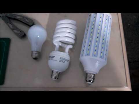 Download Same wattage incandescent vs CFL vs LED