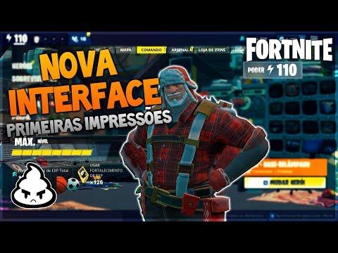 *NOVA INTERFACE* no Fortnite Salve o Mundo! Primeiras Impressões