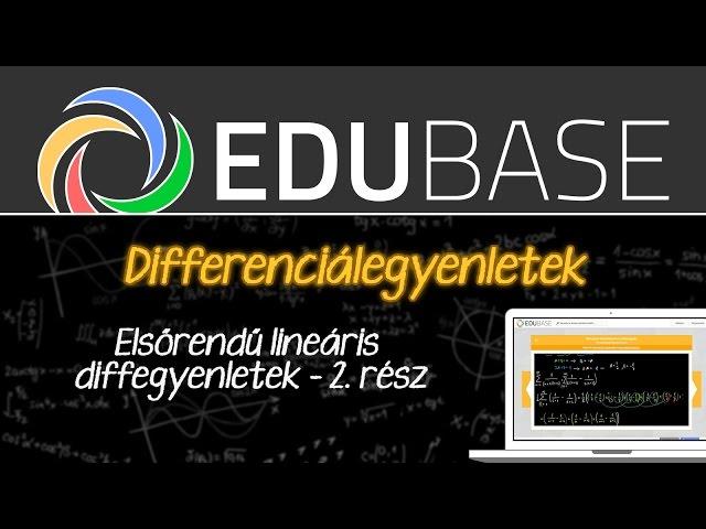 Elsőrendű lineáris differenciálegyenletek [2. rész]
