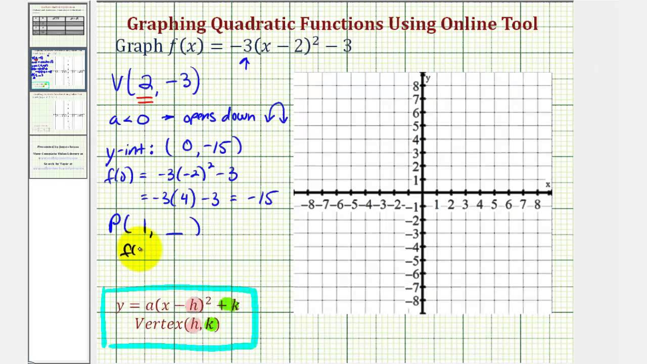 Ex graph a quadratic function in standard form online graphing ex graph a quadratic function in standard form online graphing tool falaconquin