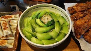 【もやしとチンゲン菜のサラダ】 普通の台所で14人前作るぞ!