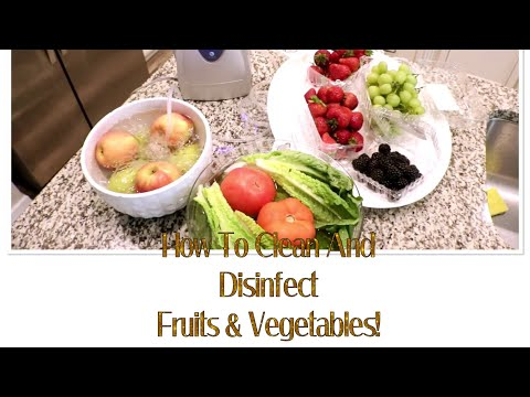 How To Clean And Disinfect Fruits And Vegetables With  Elehealthy Ozone Disinfector