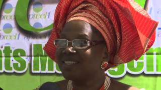 Dr  Evang  Funmi Aragbaiye on red capet interview