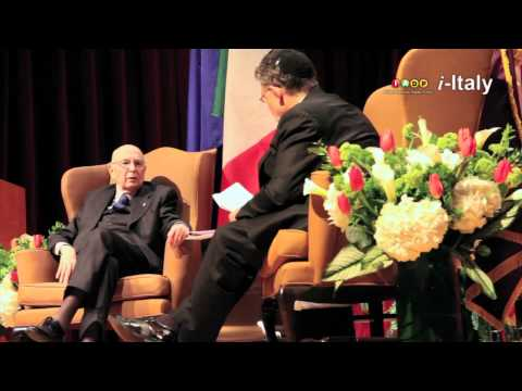 New York Embraces Giorgio Napolitano
