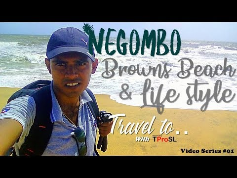 Negombo Browns Beach and Lifestyle in Sri Lanka (Travel to.. With TProSL)