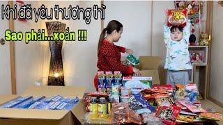 Hành động thay lời yêu thương-đón g thùng quà siêu to gửi dzìa Việt Nam # 838