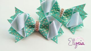 Laço Brielle Fita N5 Ribbon Bow Tutorial DIY by Elysia Handmade Top...