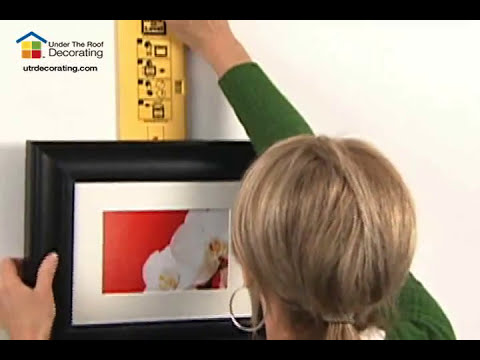 How To Hang 3 Pictures Horizontally Using Hang Level Youtube