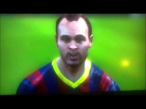 Reacción de Iniesta al FIFA 14 CARA TROLLFACE BUG OMG WTF STUFF ROLF LOL XD [IrishBhoy7]
