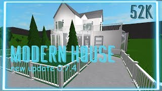 Roblox Bloxburg: Update 0.7.4 | Modern House| (New Basements And Stairs)