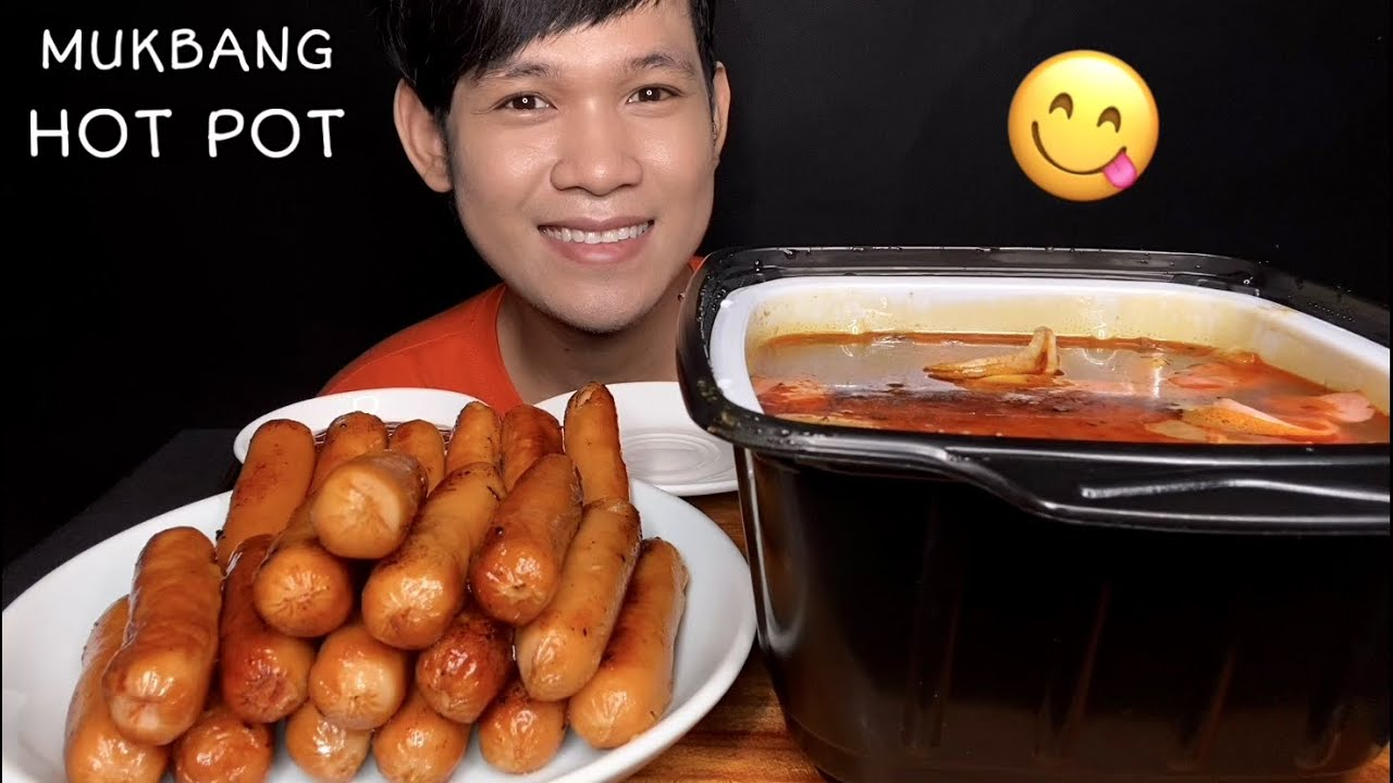 MUKBANG ASMR EATING SPICY HOT POT   MukBang Eating Show ( Eat Delicious)