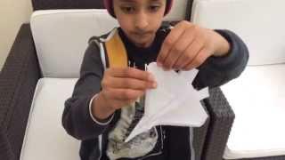 Aj Origami: F22 Raptor Fighter Jet Paper Airplane Tutorial