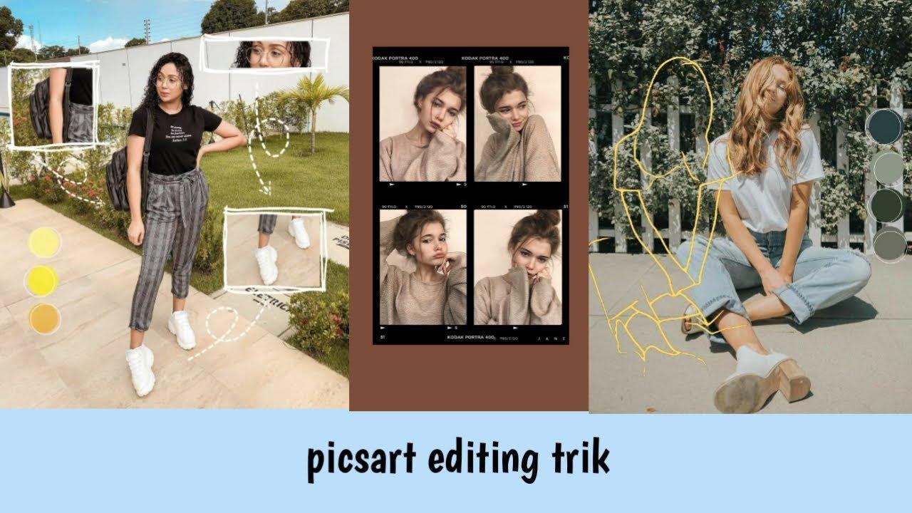 Tutorial Cara Membuat Aesthetic Edit Picsart Trik Youtube