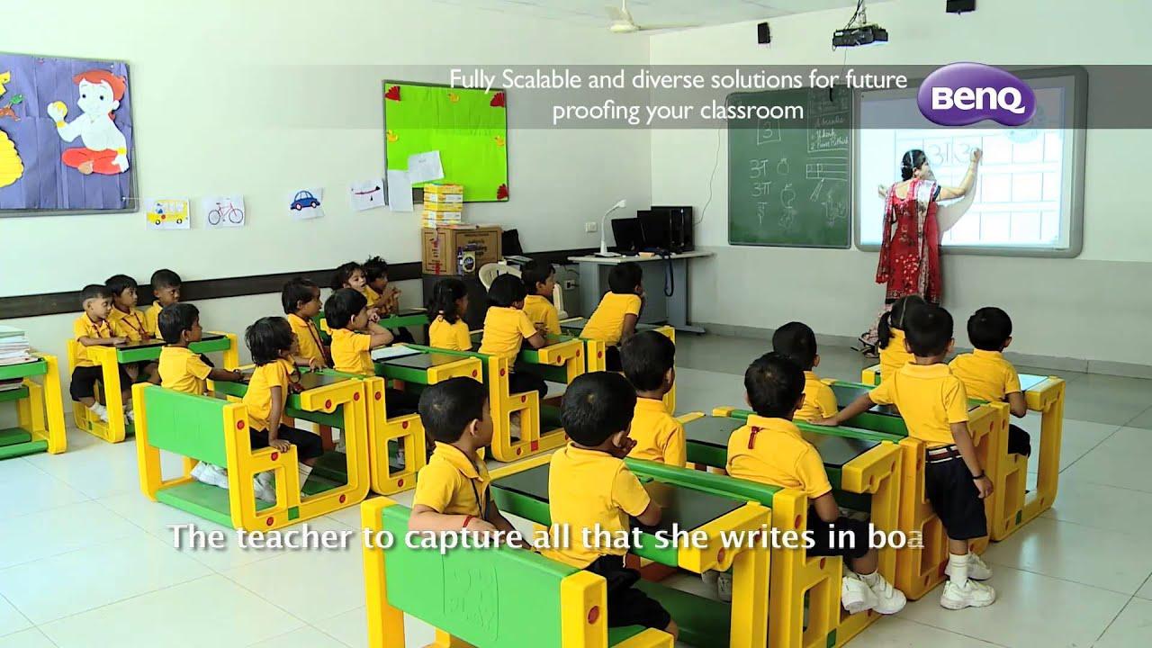 BenQ Interactive Projector Case Study-Chennai Public School - YouTube