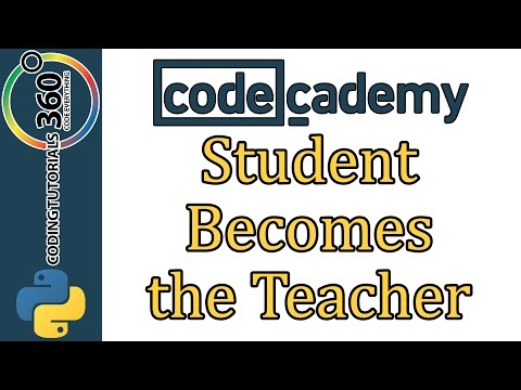 Learn Python with CodeCademy: Student Becomes the Teacher - YouTube