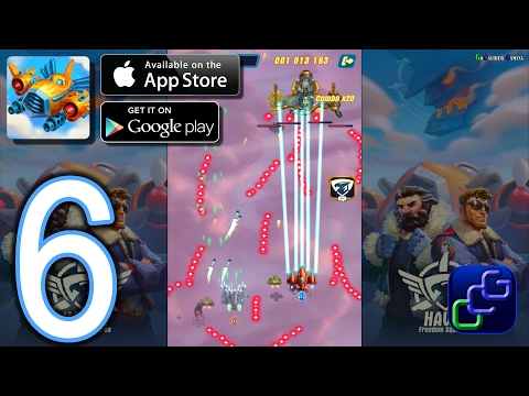 HAWK Freedom Squadron Android IOS Walkthrough - Part 6 - Stages: 10-12  NORMAL , Team Up, Arcade