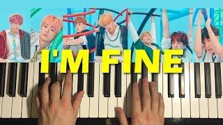 How To Play - BTS (방탄소년단) - I'm Fine (PIANO TUTORIAL LESSON)