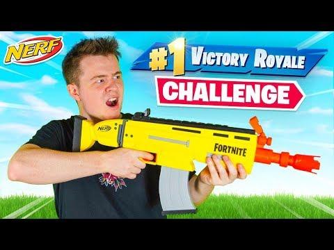 The Fortnite NERF GUN Challenge!