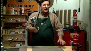 Guitar finishing with water-based lacquer: instructional guitar building video