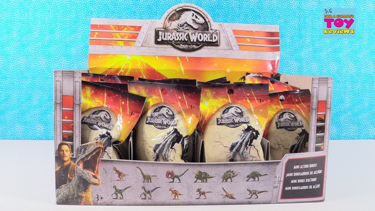 Jurassic World Mini Action Dino Blind Bag Figures Opening