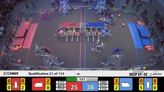 Qualification 21 - 2019 FIRST Championship - Detroit - Tesla Subdivision