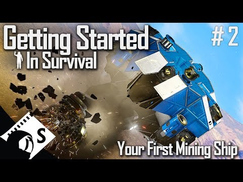 Your First Mining Ship - Getting Started In Space Engineers #2 (Survival Tutorial Series)