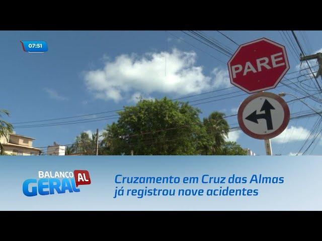 Cruzamento em Cruz das Almas já registrou nove acidentes