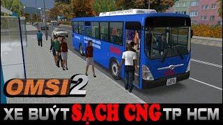 [OMSI Bus Simulator 2] Trải nghiệm Xe buýt SẠCH CNG TP HCM đông khách trong map mới đô thị
