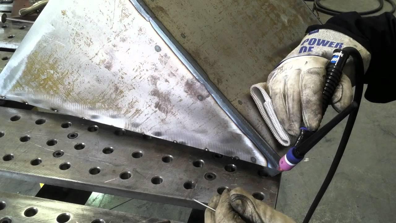 Tig Welding Outside Corner On The Diy Plasma Cutting