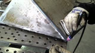 Tig Welding Outside Corner on the DIY plasma cutting downdraft table part3