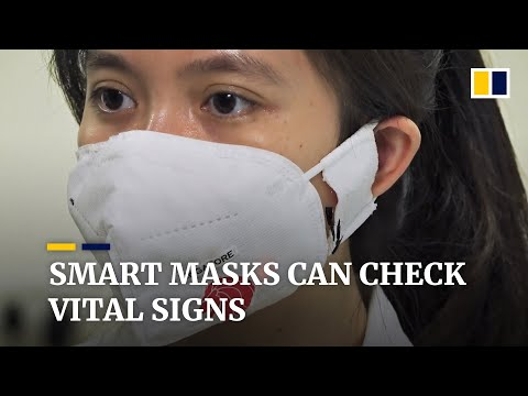 Smart masks from Singapore can help monitor patients for signs of illness including Covid-19