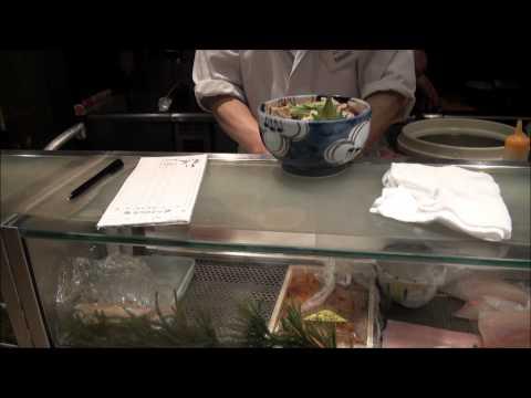Yves Lopez - Hot Sake and Sushi Narita Airport Tokyo Japan 02-16-2011 HD