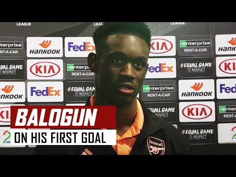 Folarin Balogun on scoring his first Arsenal goal in 37 seconds