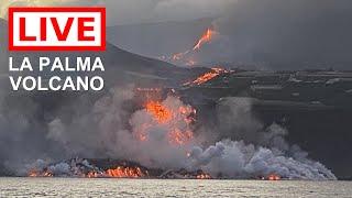 Фото 🌎 LIVE: La Palma Volcanic Eruption, Ocean Entry (Feed #3)