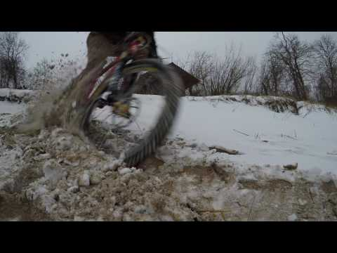 Estonia Mountain biking during winter!