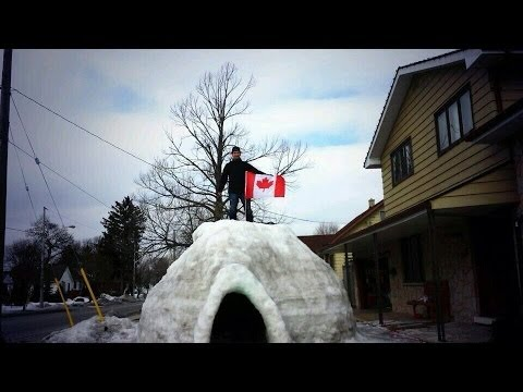 Canadians Actually Have Giant Igloos !! Canada The Great White North