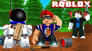 COUPLE OF NOOBS BUILDING FORTS - ROBLOX BASE RAIDERS