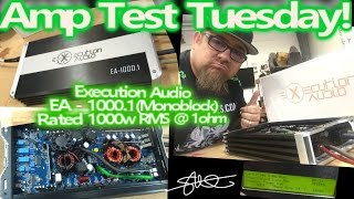 Execution Audio EA1000.1 Rated 1000 Watts RMS - Amp Test Tuesday - SMD AD-1 Amp Dyno Results & Guts