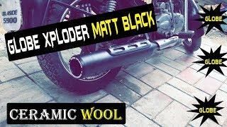GLOBE XPLODER MATT BLACK SILENCER FOR ROYAL ENFIELD CLASSIC,THUNDERBIRD,ELECTRA,STANDARD