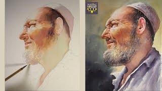 Old man portrait Watercolor Painting- Intermediate level