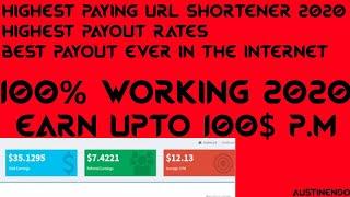 Highest Paying URL Shortener 2020   Highest Payout Rates World Wide   Make Money Online  