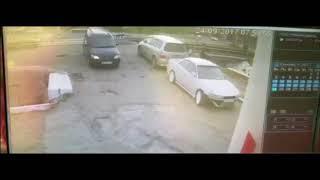 авария на железнодорожном переезде в Хабаровске