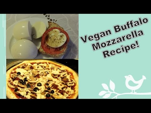 Vegan Buffalo Mozzarella Recipe! (Plus, I melt it!)