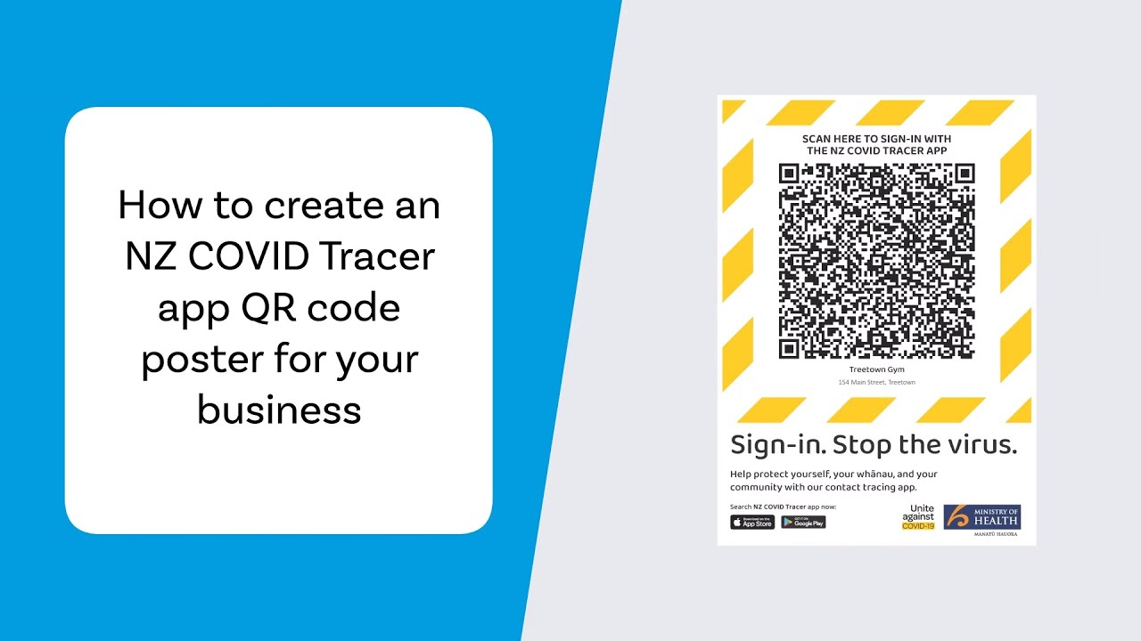 How To Create An Nz Covid Tracer App Qr Code Poster For Your Business Youtube